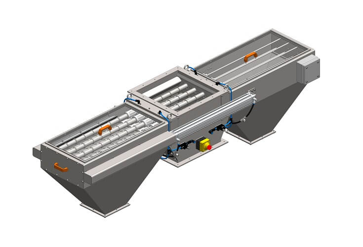 Doppelseitiger Magnetabscheider MSV LML mit Abblasesystem